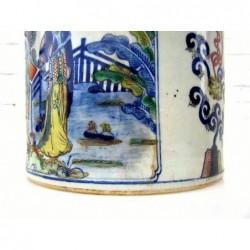 Blue-white Chinese brush pot