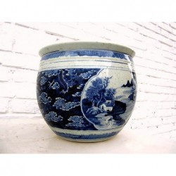 Blue-white Chinese planter
