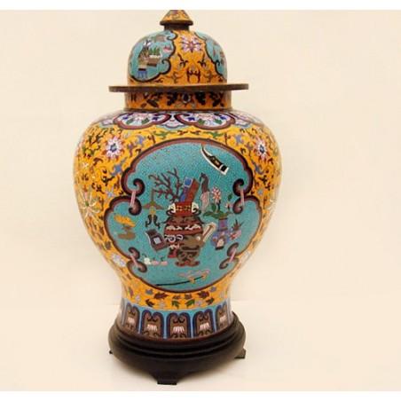 Cloisonne Enamel temple jar