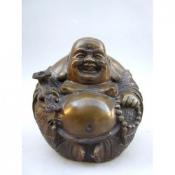 Happy bouddha en bronze ( XL)