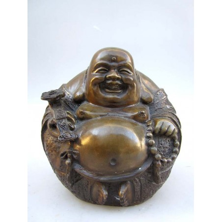 Happy bouddha en bronze ( XL)
