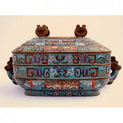 Blau Cloisonné Emaille Box...