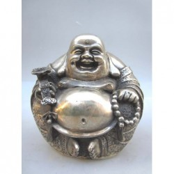 Lucky Bouddha in silvered...
