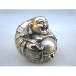 Silberne Bronze Happy Buddha
