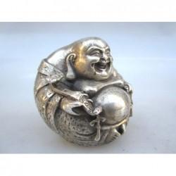 Silberne Bronze Happy Buddha