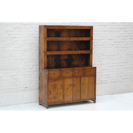 Chinese pine crockery cabinet 114cm