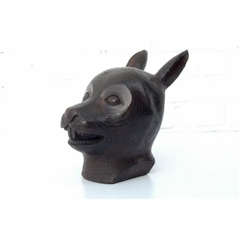 Chinese bronze. Zodiac hare head