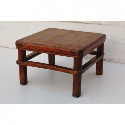 Old chinese Tea table in elm wood 48cm