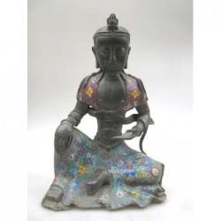 Bouddha en méditation-émaux...