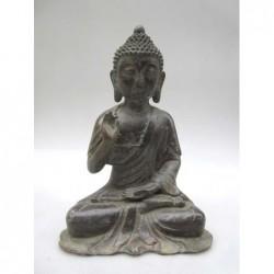 Bronze patiné de Bouddha en...