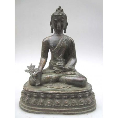 Bouddha en bronze en Varada Mudra