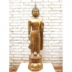 Buddha-Bronze in Abhaya Mudra