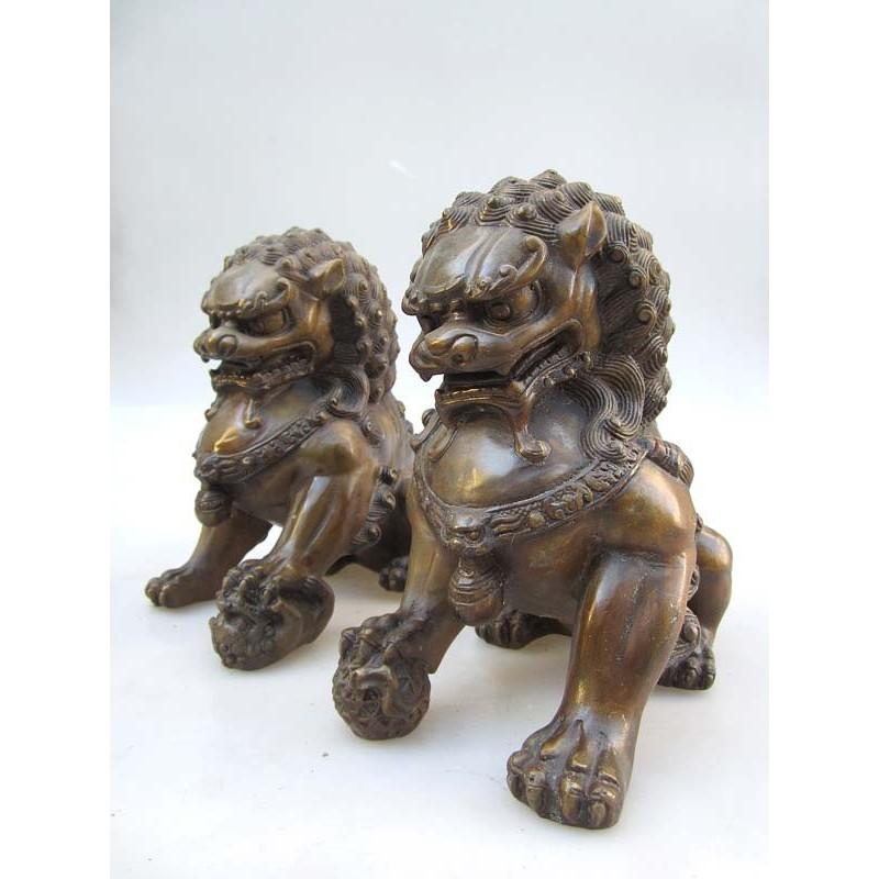 Bronze Fu lions pair( XL)