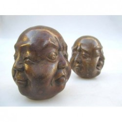 Bronze head of Buddha 4 faces (M) sold by unit