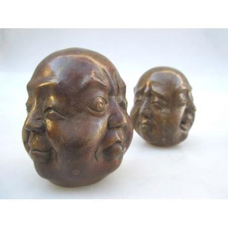 Tête de Bouddha 4 faces- bronze (M) vendue à l'unité