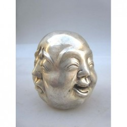 Silvered head of Buddha 4...
