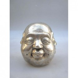 Silvered head of Buddha 4 faces (S)