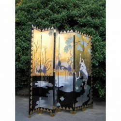 Chinese screen with cranes