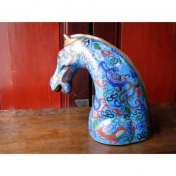 Pferdekopf. Emaille Cloisonne