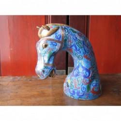 Cloisonné horse's head