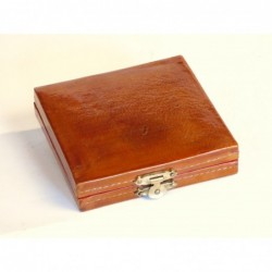 Chinese jewel case in leather