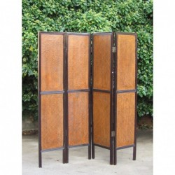 Rattan chinese screen