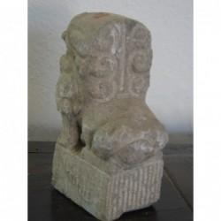 Lion gardien chinois en pierre naturelle