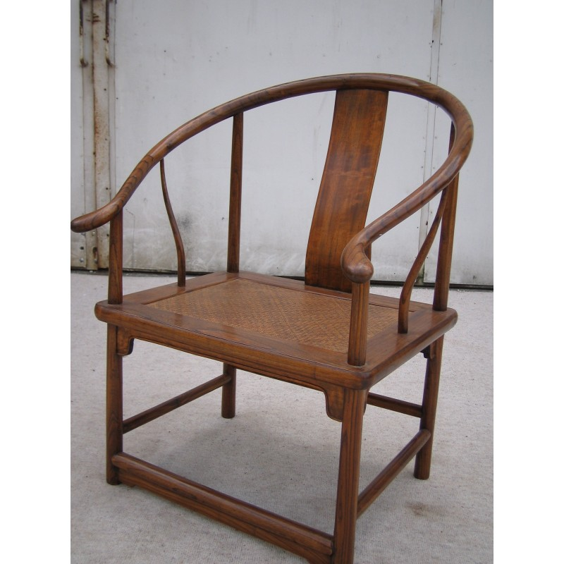 Ming style armchair in elm wood
