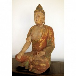 Wood carving of the Buddha...