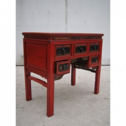 Red lacquered piece of...