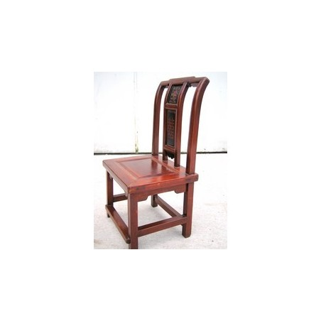 Red lacquered chinese chair