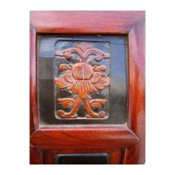 Red lacquered antique chinese chair