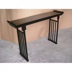 Black laquered console...