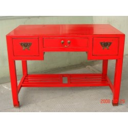 Chinese red laquered desk...