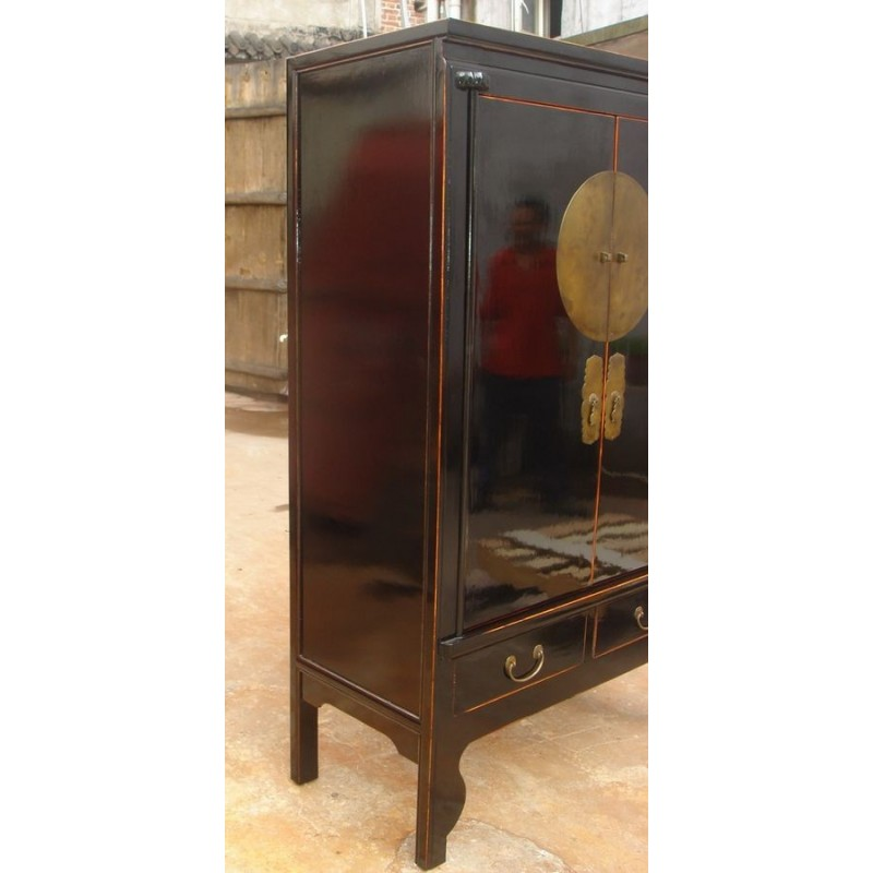 armoire de mariage chinoise noire peu profonde china collection. Black Bedroom Furniture Sets. Home Design Ideas