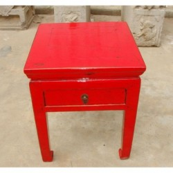 Red chinese bed side table...