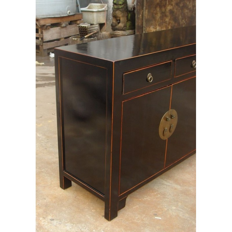 buffet chinois laqu noir 150 cm china collection. Black Bedroom Furniture Sets. Home Design Ideas