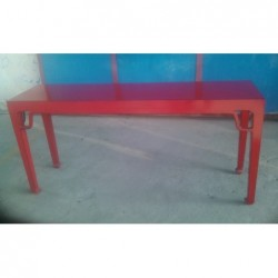 Red chinese console table...