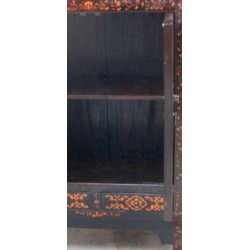 Black chinese cabinet with butterflies 80 cm