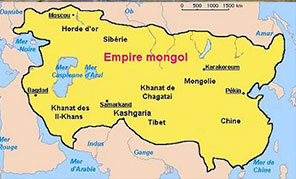Carte de l'empire Mongol
