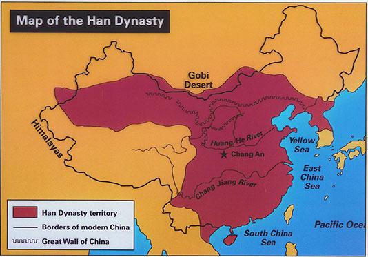 Cartographie de la dynastie Han