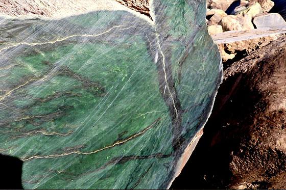Intérieur d'une pierre de jade