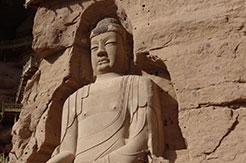 Statue dans le temple de Bingling