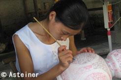 Travail de porcelaine à Jingdezhen