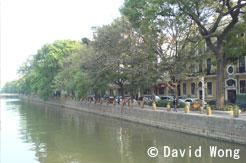 Vue de l'ile de Shamian depuis Guangzhou